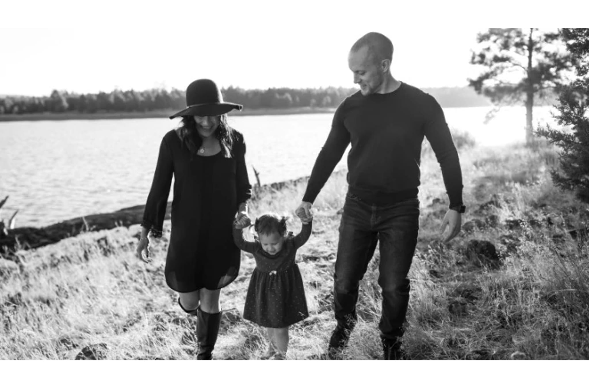 Melissa Moore with her husband and daughter.